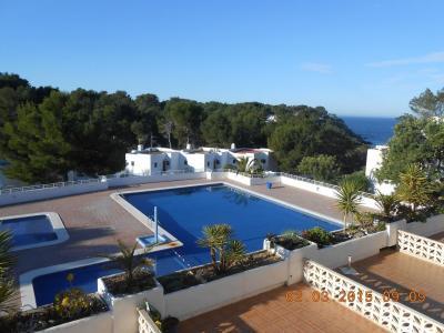 Ausblick vom Balkon Mietobjekt Studio 54638 Cala Tarida