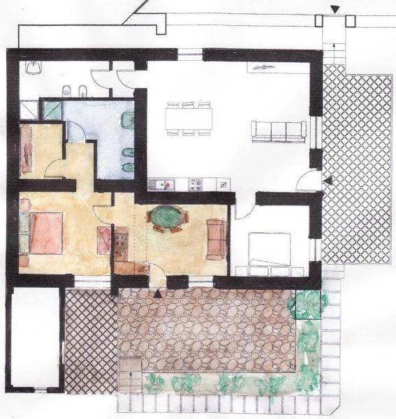 Grundriss des Objektes Mietobjekt Appartement 56238 Maratea