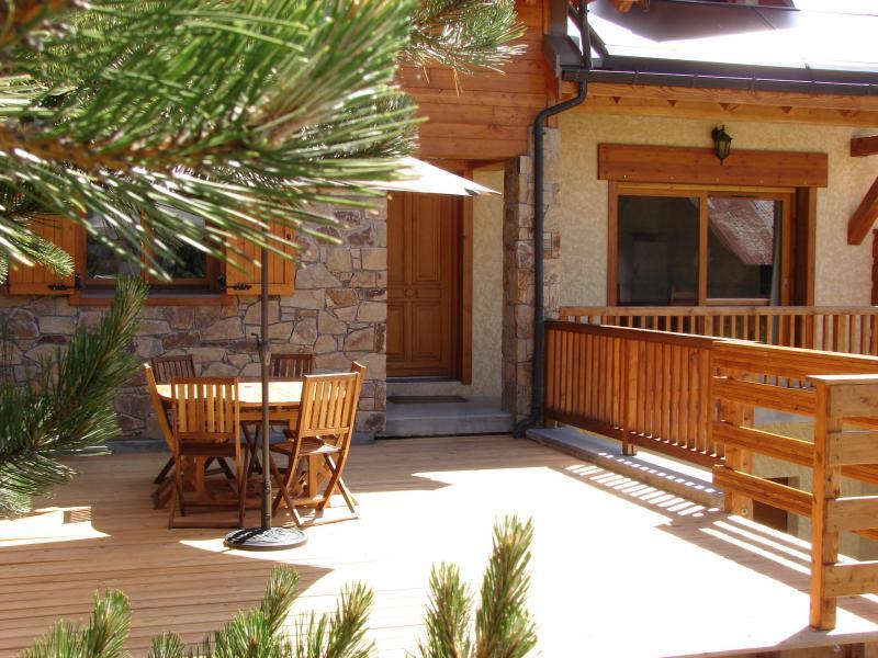 Terrasse Mietobjekt Chalet 57805 Montgenevre