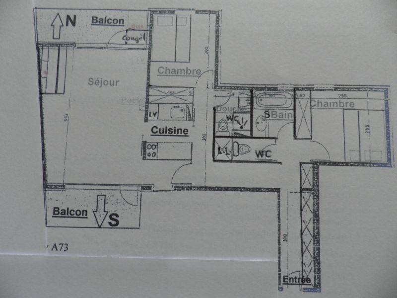 Grundriss des Objektes Mietobjekt Appartement 58207 La Plagne