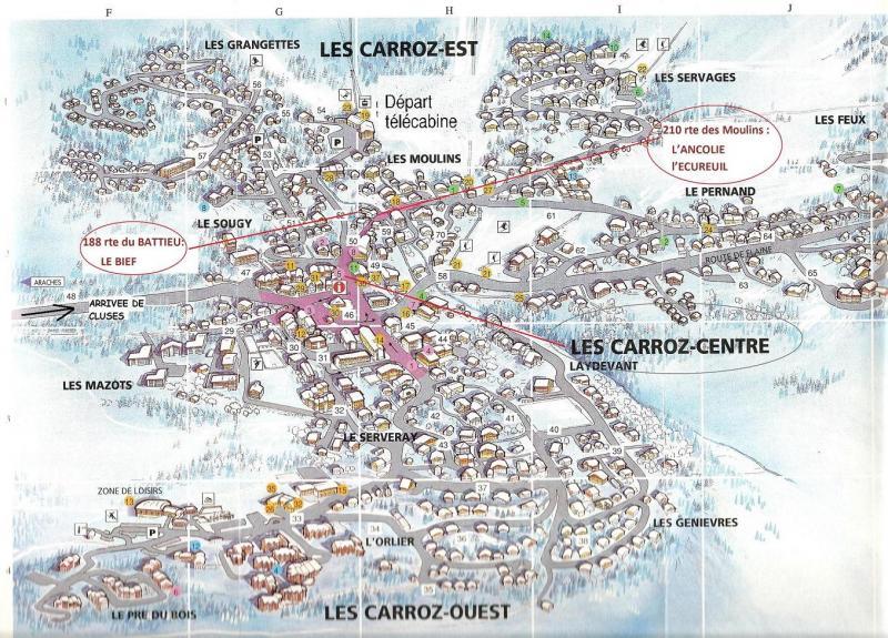 Grundriss des Objektes Mietobjekt Appartement 58406 Les Carroz d'Araches