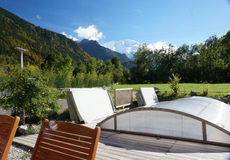 Ausblick von der Terrasse Mietobjekt Appartement 59034 Saint Gervais Mont-Blanc