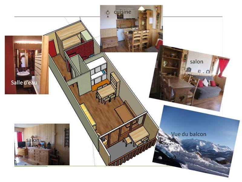 Grundriss des Objektes Mietobjekt Appartement 60821 Auris en Oisans