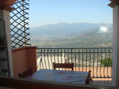 Ausblick vom Balkon Mietobjekt Appartement 61401 Baunei