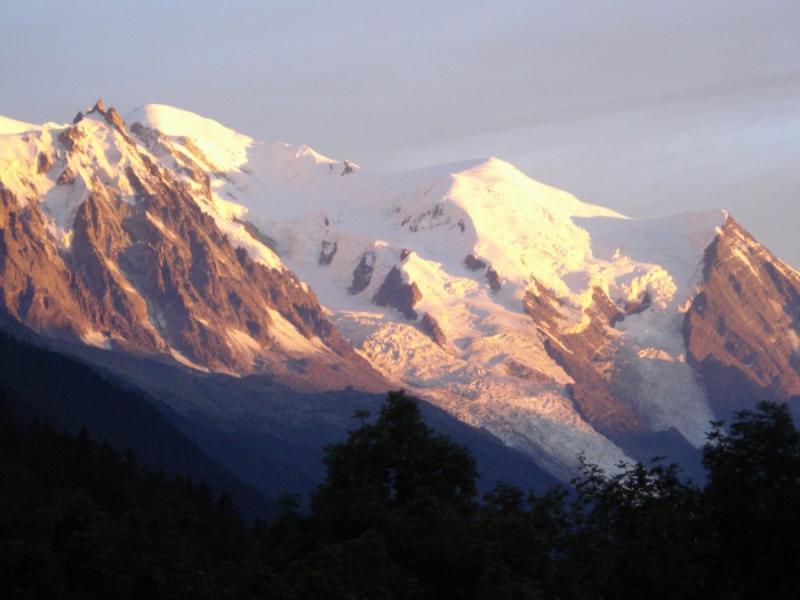 Ausblick von der Terrasse Mietobjekt Chalet 706 Chamonix Mont-Blanc