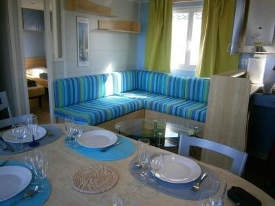 Wohnzimmer Mietobjekt Mobil-Home 7433 Perros-Guirec