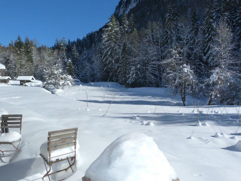 Ausblick von der Terrasse Mietobjekt Chalet 67065 Morzine
