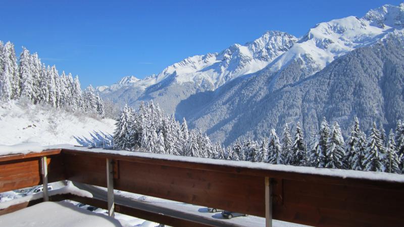 Ausblick von der Terrasse Mietobjekt Appartement 67538 Les Sept Laux