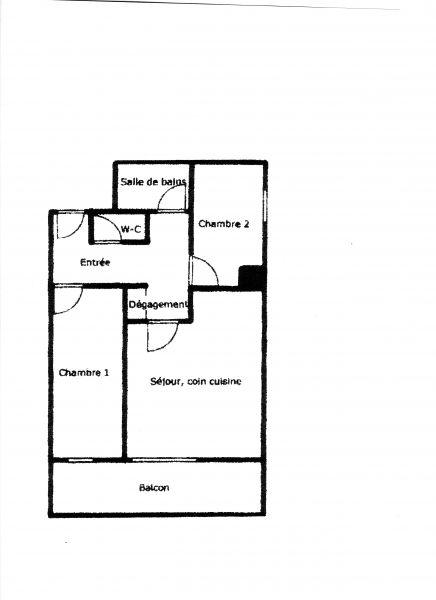 Grundriss des Objektes Mietobjekt Appartement 67538 Les Sept Laux