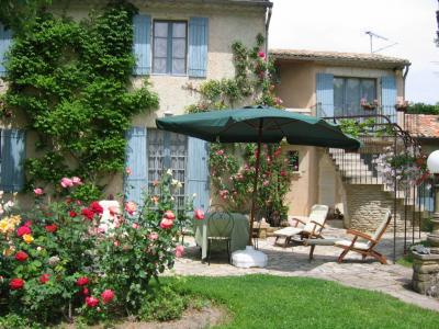 Ausblick von der Terrasse Mietobjekt Ferienunterkunft auf dem Land 79746 Avignon