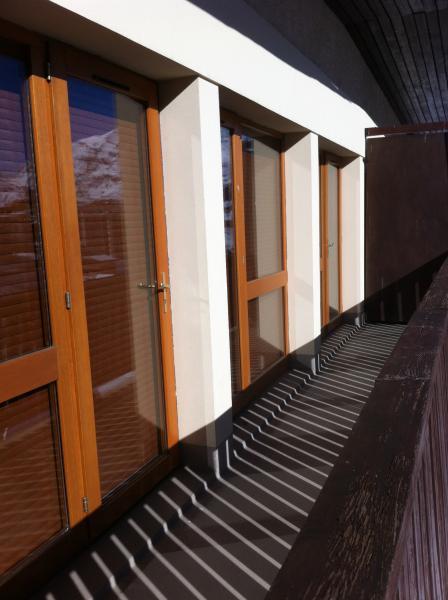 Ausblick von der Terrasse Mietobjekt Appartement 73736 Tignes