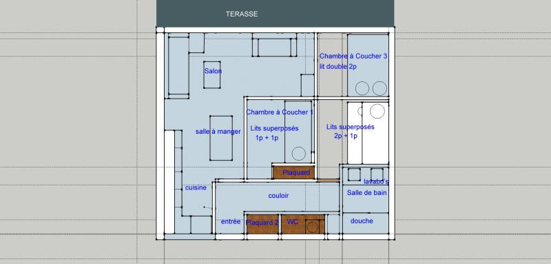 Grundriss des Objektes Mietobjekt Appartement 73736 Tignes
