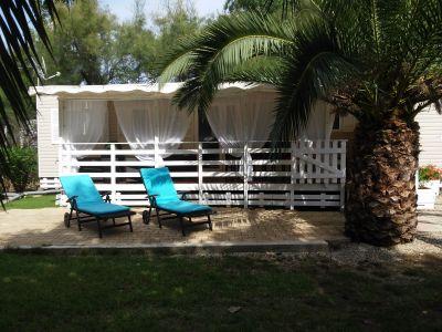 Garten Mietobjekt Mobil-Home 93121 Vias Plage