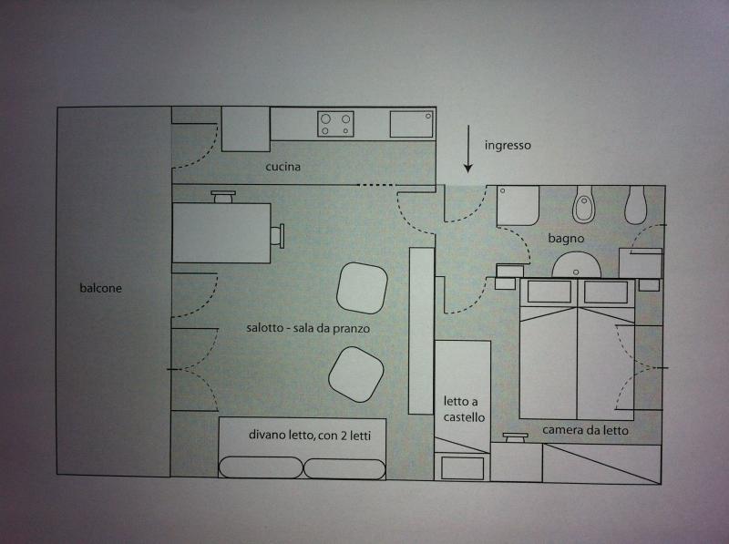 Grundriss des Objektes Mietobjekt Appartement 75601 Levanto