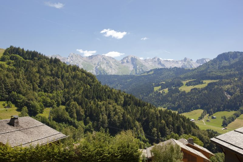 Ausblick vom Balkon Mietobjekt Chalet 86535 Le Grand Bornand