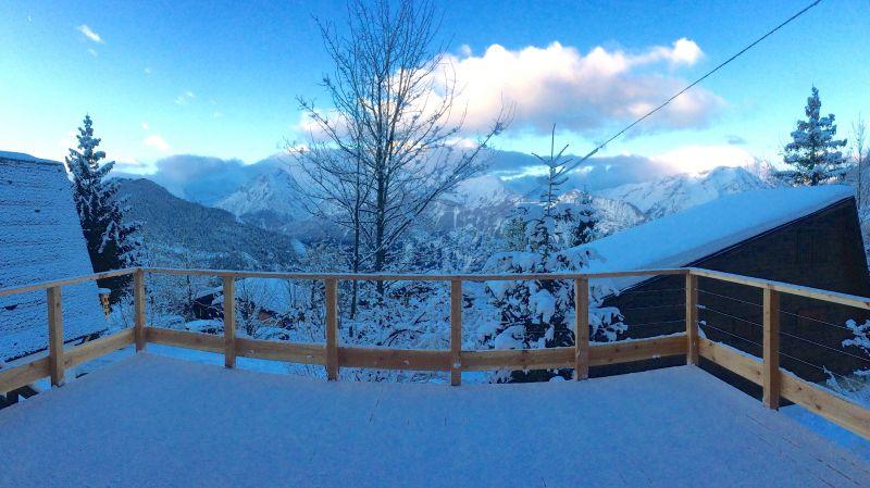Ausblick von der Terrasse Mietobjekt Chalet 100569 Alpe d'Huez