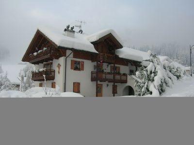 Ausblick aus der Ferienunterkunft Mietobjekt Appartement 70941 Val di Fiemme