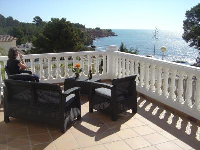 Ausblick von der Terrasse Mietobjekt Villa 94907 L'Ampolla