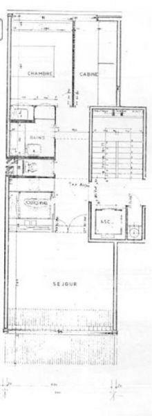 Grundriss des Objektes Mietobjekt Appartement 106655 Les Arcs