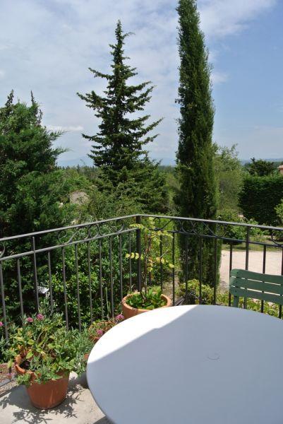 Ausblick von der Terrasse Mietobjekt Studio 109489 Isle sur la Sorgue