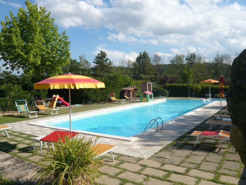 Ausblick von der Terrasse Mietobjekt Villa 116579 Anghiari