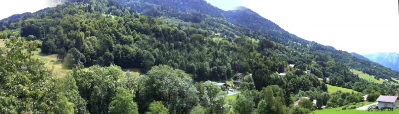 Ausblick vom Balkon Mietobjekt Appartement 72766 La Clusaz