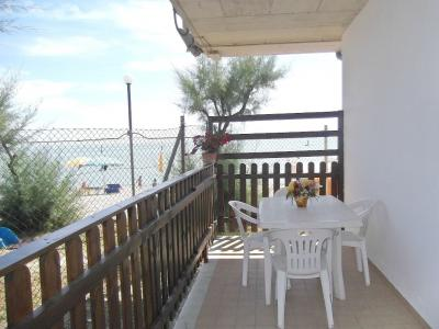 Ausblick von der Terrasse Mietobjekt Bungalow 85039 Porto San Giorgio