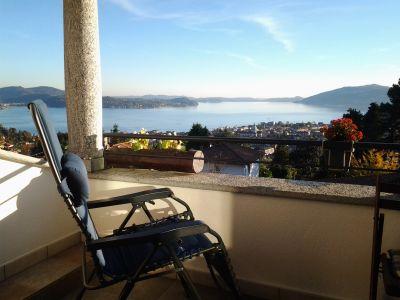 Ausblick vom Balkon Mietobjekt Appartement 91965 Verbania