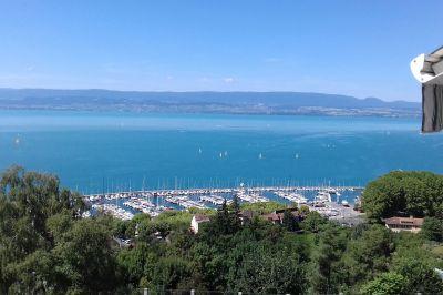 Ausblick vom Balkon Mietobjekt Appartement 114583 Thonon Les Bains