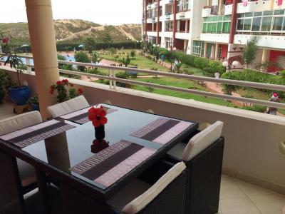 Ausblick von der Terrasse Mietobjekt Appartement 90167 Mohammedia