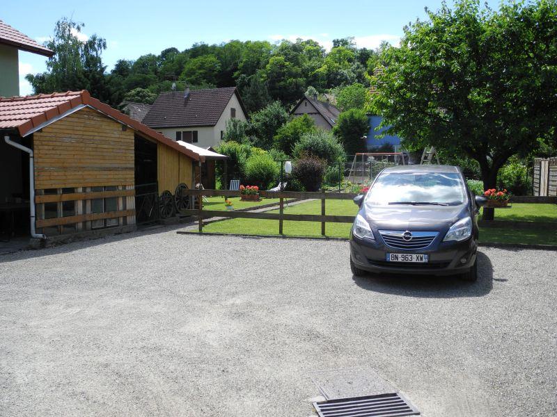 Parkplatz Mietobjekt Ferienunterkunft auf dem Land 96647 Bollwiller