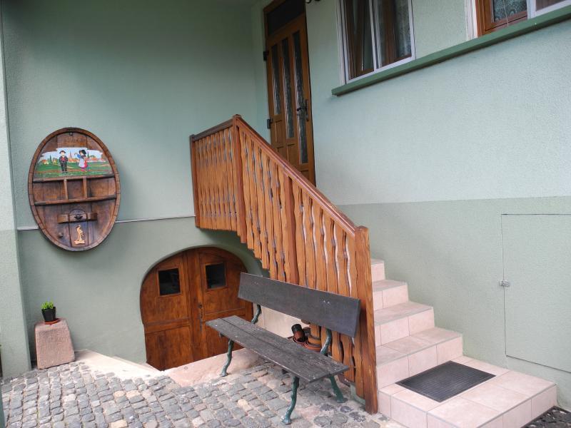 Eingang Mietobjekt Ferienunterkunft auf dem Land 96647 Bollwiller