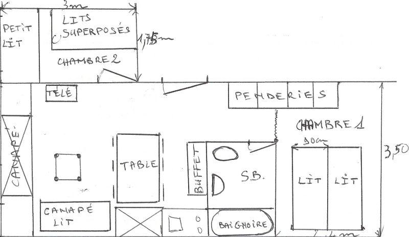 Grundriss des Objektes Mietobjekt Appartement 245 Les Arcs