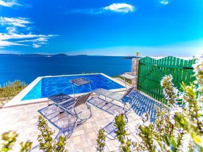 Schwimmbad Mietobjekt Haus 114372 Trogir