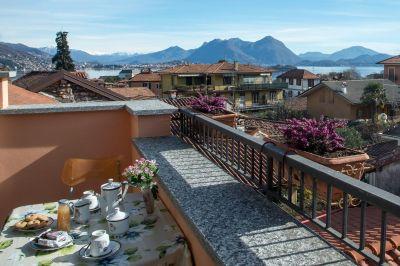 Ausblick von der Terrasse Mietobjekt Appartement 112766 Baveno