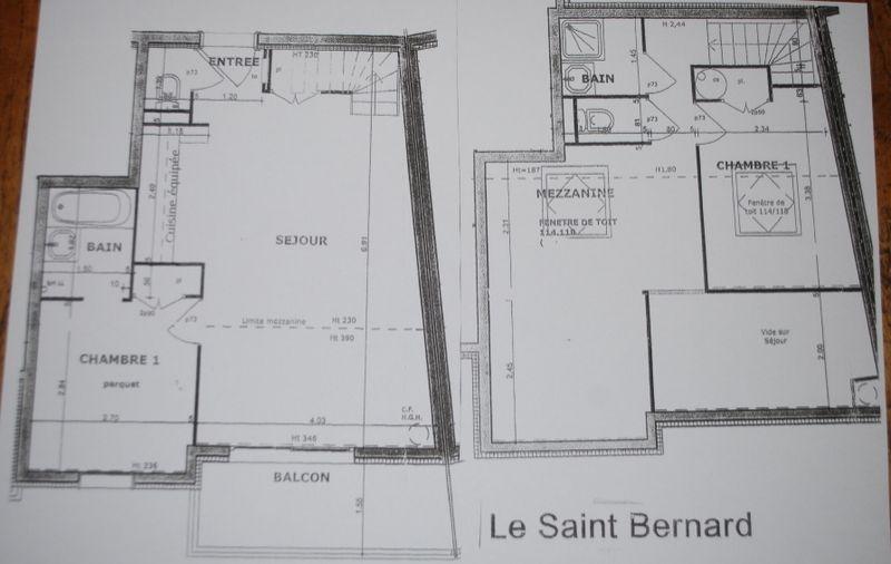Grundriss des Objektes Mietobjekt Appartement 101056 Les Arcs