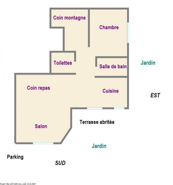Grundriss des Objektes Mietobjekt Appartement 78318 Serre Chevalier