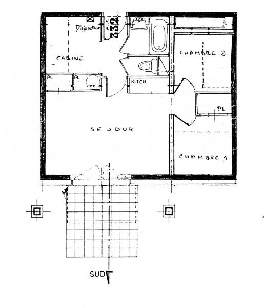 Grundriss des Objektes Mietobjekt Appartement 81787 Les Contamines Montjoie