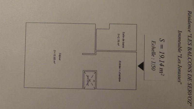 Grundriss des Objektes Mietobjekt Studio 93266 Chamonix Mont-Blanc