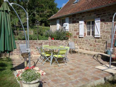 Terrasse Mietobjekt Ferienunterkunft auf dem Land 102138 Brive-la-Gaillarde