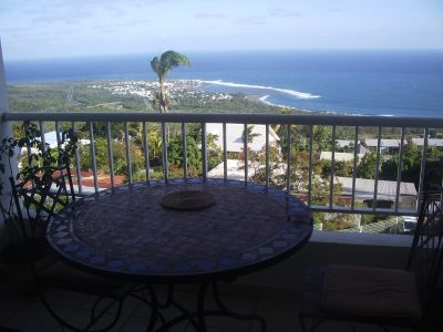 Ausblick von der Terrasse Mietobjekt Appartement 108179 Etang Salé - Avirons