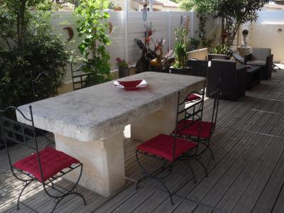 Ausblick von der Terrasse Mietobjekt Villa 85121 Aigues Mortes