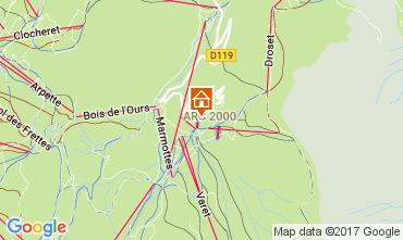 Karte Les Arcs Studio 168