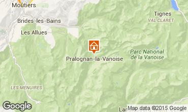 Karte Pralognan la Vanoise Appartement 18251