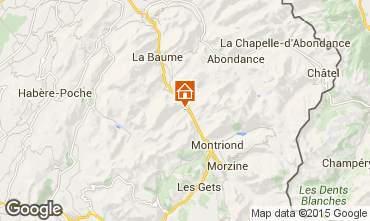 Karte Saint Jean d'Aulps- La Grande Terche Appartement 85484