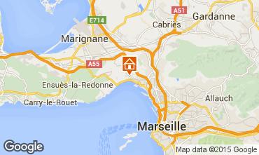 Karte Marseille Ferienunterkunft auf dem Land 5959