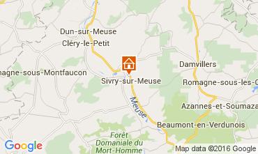 Karte Verdun Ferienunterkunft auf dem Land 105333