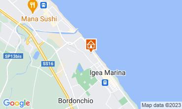 Karte Bellaria Igea Marina Appartement 107534
