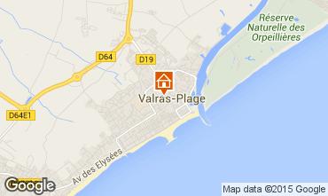 Karte Valras-Plage Appartement 41098