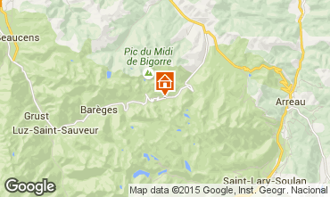 Karte La Mongie Appartement 50729